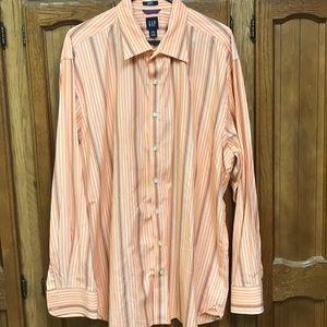 Gap orange and white dress shirt, XXL